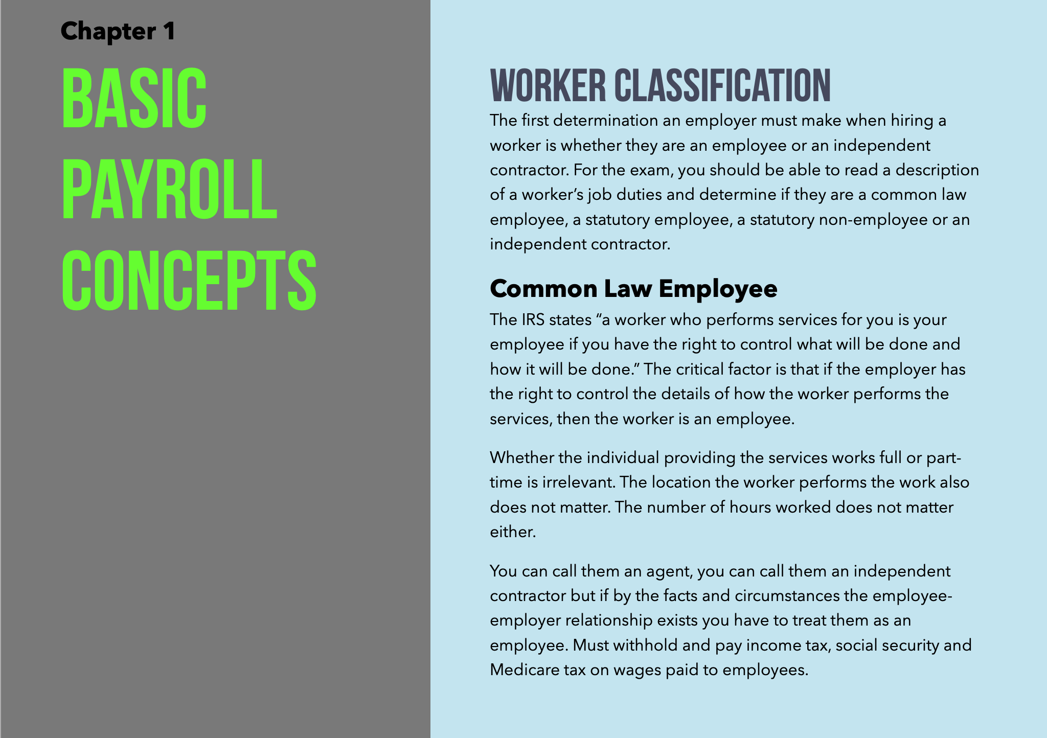certified payroll professional study guide sample page 1